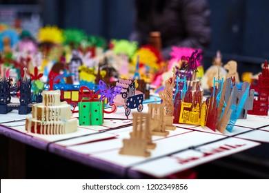 Flea Market Handicrafts Paper Craft Stock Photo Edit Now