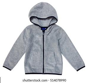 Fleece jacket isolated