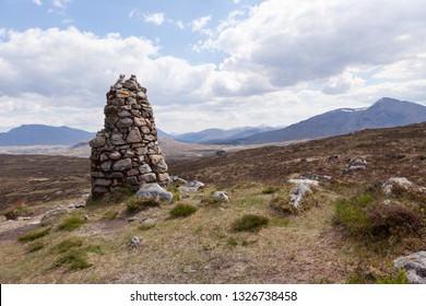 The Fleming Cairn at the top of Rannoch Moor on the West Highland Way.