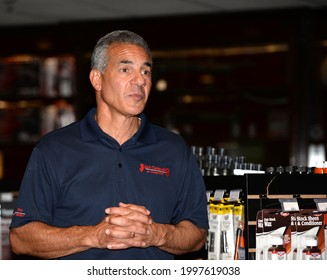 FLEMINGTON,NEW JERSEY - JUNE 26,2021: Jack Ciattarelli,Republican candidate for governor of New Jersey answers questions at a meet and greet at the Tactical Training Center in Flemington,NJ.