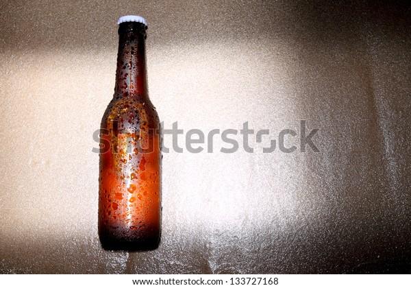 flesh beer on beach