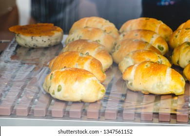 Flesh butter Breads in bekery shop and coffee.