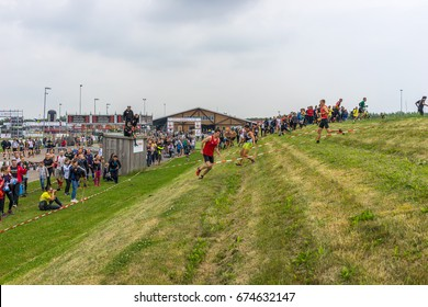 Flevonice, The Netherlands - July 1, 2017: Obstacle Course Racing European Championships