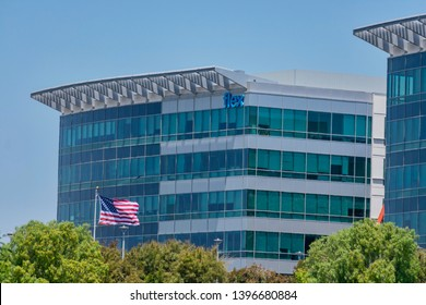 Flex sign on Silicon Valley office. Flextronics is am electronics manufacturing services company headquartered in Singapore - San Jose, California, USA - May 11, 2019