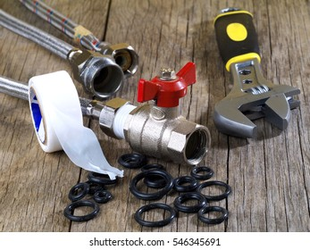 flexible fitting, ball valve and adjustable wrench