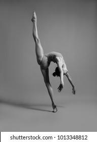 Flexible girl in a string