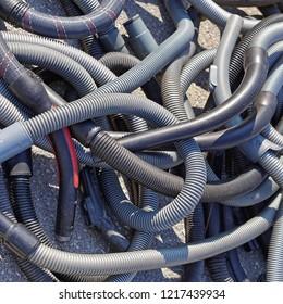 Flexible plastic hoses for vacuum cleaner