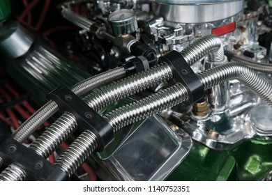 Flexible Stainless Steel Hoses on a High Performance Engine