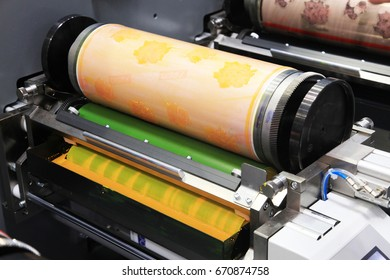 flexographic machine for multicolor printing on paper