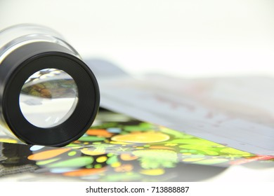 flexographic Magnifying glass and color label
