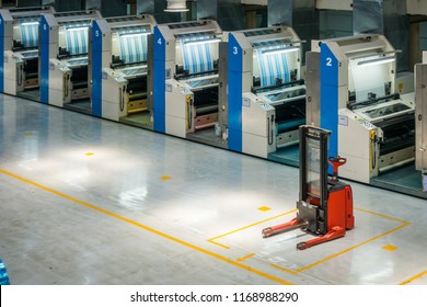 Flexographic Printer Inside Factory Industrial Production