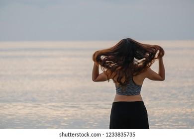 Flick hair women sport