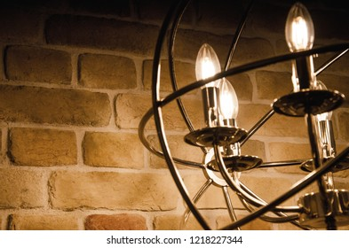 flickering light from the lamps in the interior
