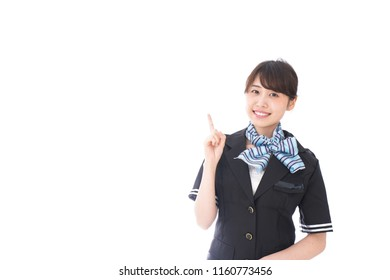 flight attendant giving advice
