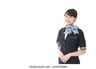 flight attendant smiling