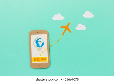 Flight booking on mobile phone