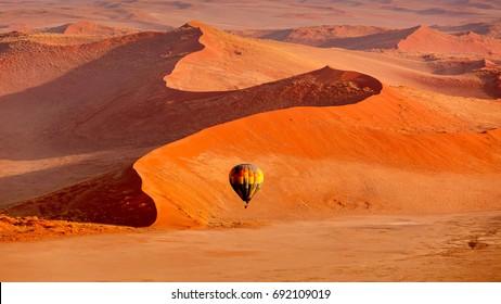 In Flight by Hot Air Balloon Sossusvlei