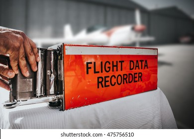 Flight data recorder from a plane. Black box.