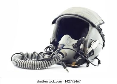 Flight helmet isolated.
