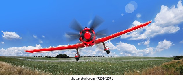 Flight on a light aircraft. Air club.