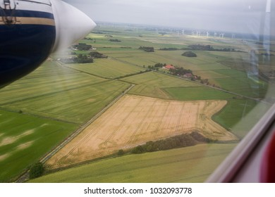 Flight over an agriculure