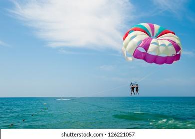 Flight to parachute