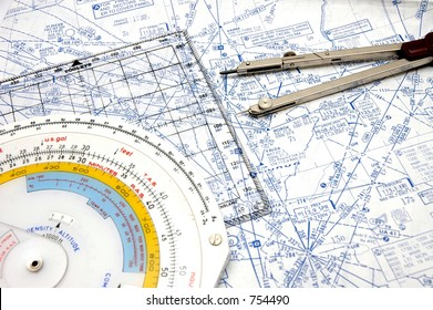 Flight Planning on Airways with some old instruments