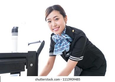 In flight service