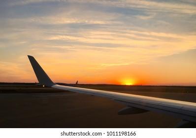 Flight At Sunset