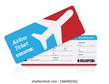 Flight tickets on white