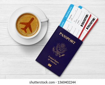 Flight tickets and passport