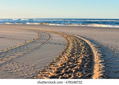 Flinders beach at north stradbroke island - queensland - australia