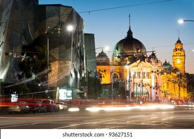 Flinders station view from flinders street - Melbourne - Australia