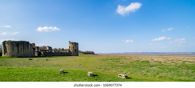 Flint Castle landscape North Wales