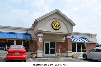 FLINT, MI - AUGUST 22: Einstein Bros. Bagels, whose Flint, MI location is shown August 22, 2015, has 350 stores.