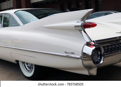 FLINT, MICHIGAN-DECEMBER 30, 2017:  1959 Cadillac Coupe de Ville.  This model represents the high point of American car design and luxury.