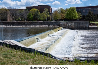 The Flint River in Flint, Michigan. Newsworthy for their water quality and safety issues.