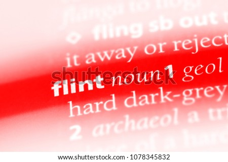 Flint Word Dictionary Flint Concept Stock Photo (Edit Now