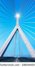 The Flintshire Bridge is a cable-stayed bridge spanning the Dee Estuary in North Wales. The bridge links Flint and Connah's Quay to the shore north of the River Dee