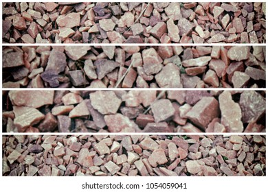 Flintstone pebbles structure of red stone for background.