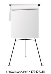 flip chart isolated on white