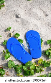 Flip Flops in the sand, perfect for cover art