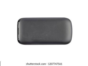 Flip phone on white background