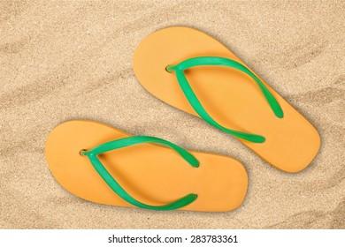 Flip-flop, Sandal, Summer.