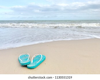 flipflop Sandals on the beach
