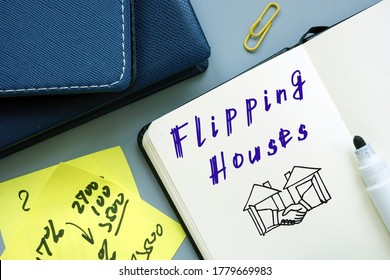 Flipping Houses phrase on the page.