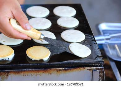 Flipping a pancake