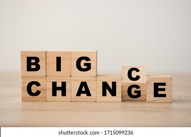 "Flipping wooden cube block for big "" Change"" to big "" Chance "" wording. Economy  investment business crisis and technology transformation can make good chance."