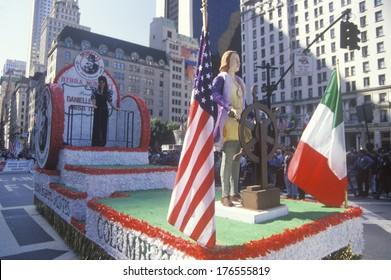 Float of Columbus, Columbus Day Parade, New York City, New York