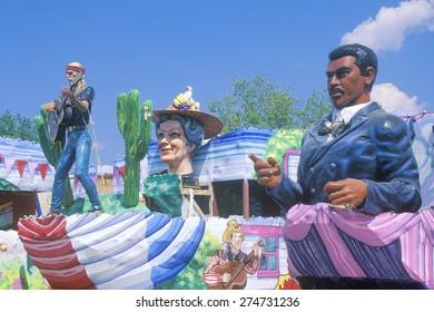 Float in Mardi Gras Parade, New Orleans, Louisiana